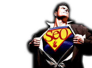 image of superman wearing a best SEO tools shirt